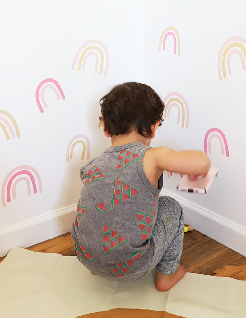 rainbow decals how to make