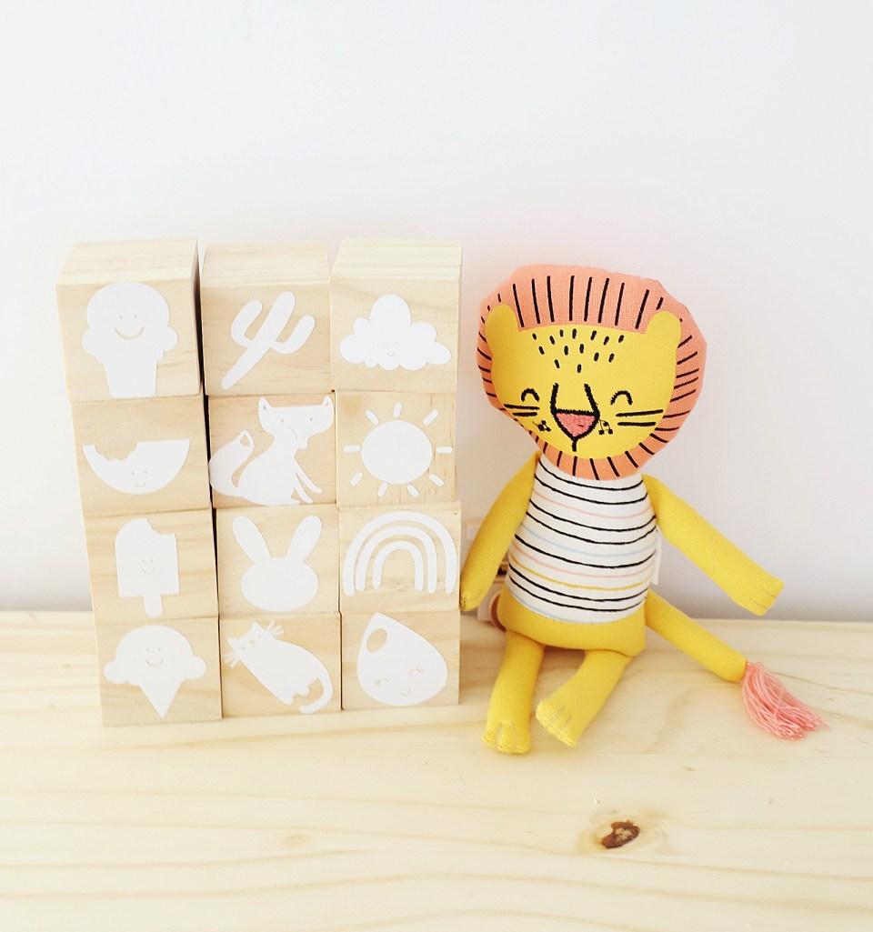 baby blocks with cricut