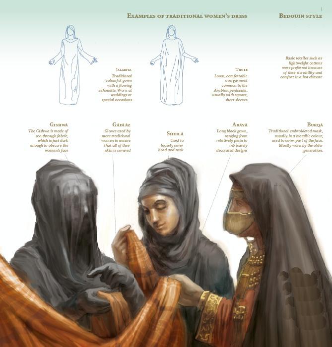 اللباس التقليدي للمرأة 1