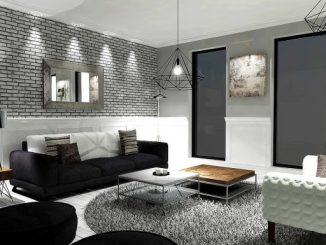أفكار طلاء غرفة المعيشة ساحرة اللون الرمادي المعاصر أبيض داكن أزرق أزرق ديكور الغرف غرف سوداء وألوان تأثيث الجدران