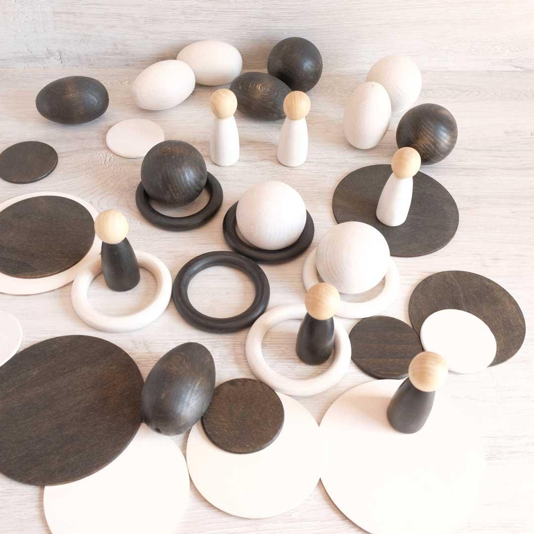 juguetes abuenpuerto blanco y negro