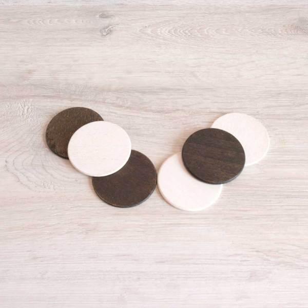 monedas de madera