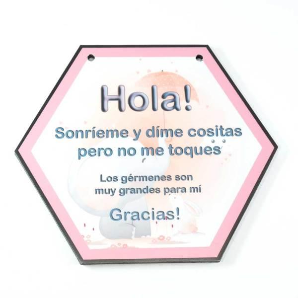 cartel de no tocar para recién nacidos modelo 1
