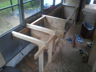 Counter supports in place.