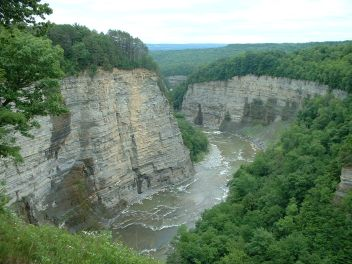 A view of some of the Gorge at Letchworth.