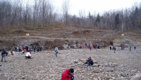 People mining out Herkimer Diamonds