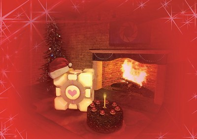The Weighted Companion Cube Christmas Card