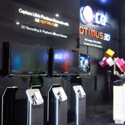 Day 0: LG's booth opens with Optimus 3D and 8.9 inch Optimus Pad tablet