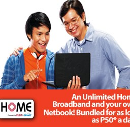 P50.00 a day can get you a Netbook and Home Internet
