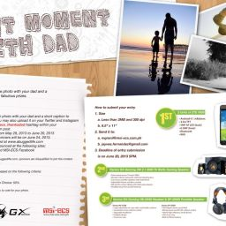 Contest: BEST MOMENT WITH DAD; win ZTE Android phones and Genius speakers and headphones