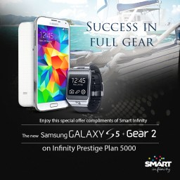 Smart Infinity launches Samsung Galaxy S5 Promo starting at PLAN 3500