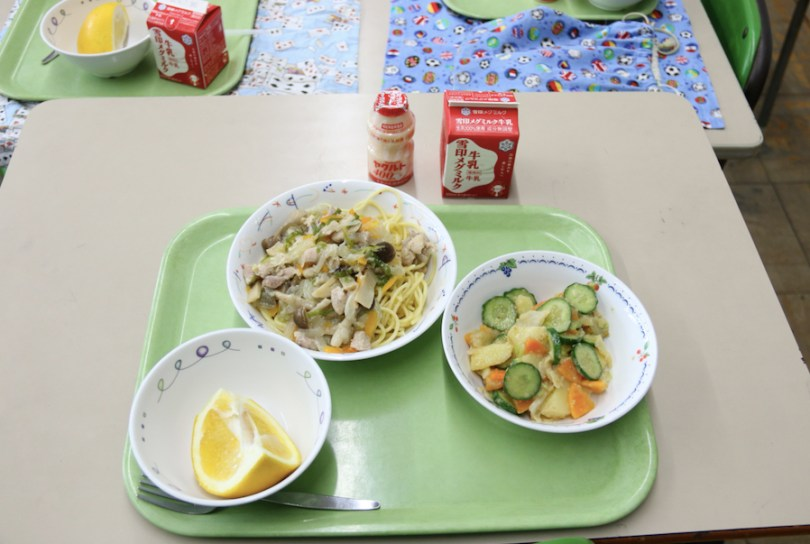 yakult in japan meal school