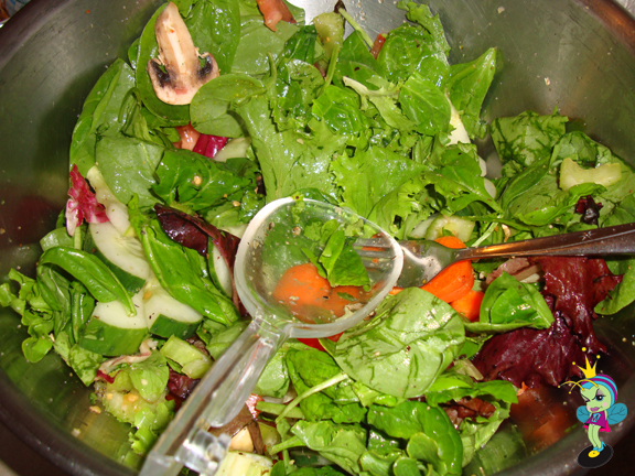 a lovely green salad