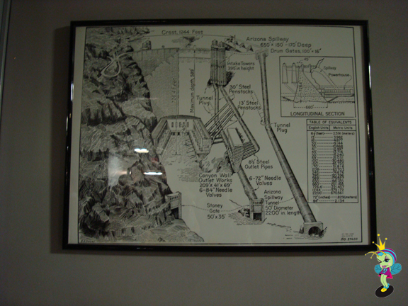 Drawings of what lies beneath at the dam
