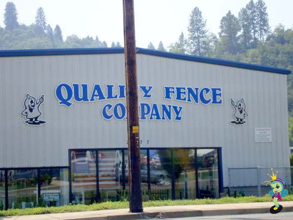 the Quality Fence Company has some suspicious looking logos!