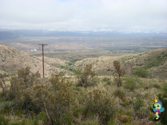 on the way up the hill to Jerome, AZ