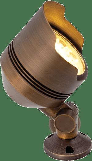 Abulous Lifetime Warranty Brass Flood Light