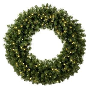 Pre-lit Sequoia Wreath.