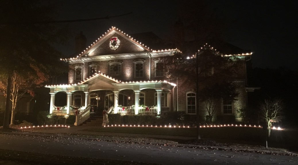 Christmas Decorations on Roswell, GA home