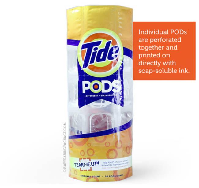 """أكياس مساحيق الغسيل """"Pods"""""""