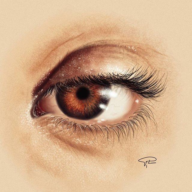 رسم عيون