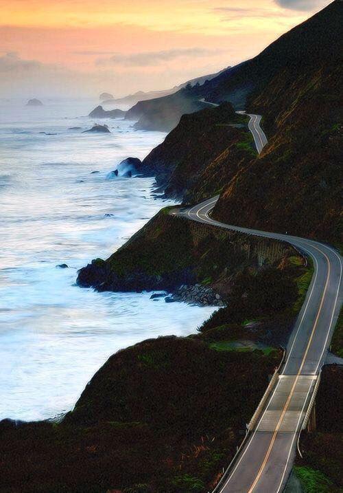 طريق على المحيط