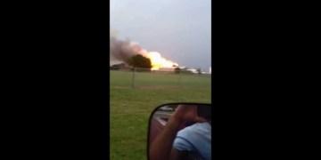 إنفجار مصنع أسمدة