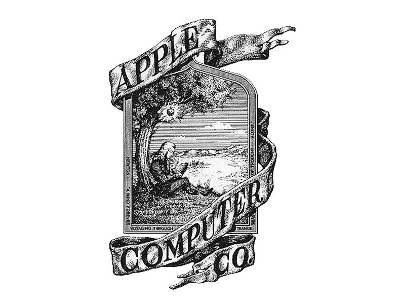 شعار شركة آبل الأول