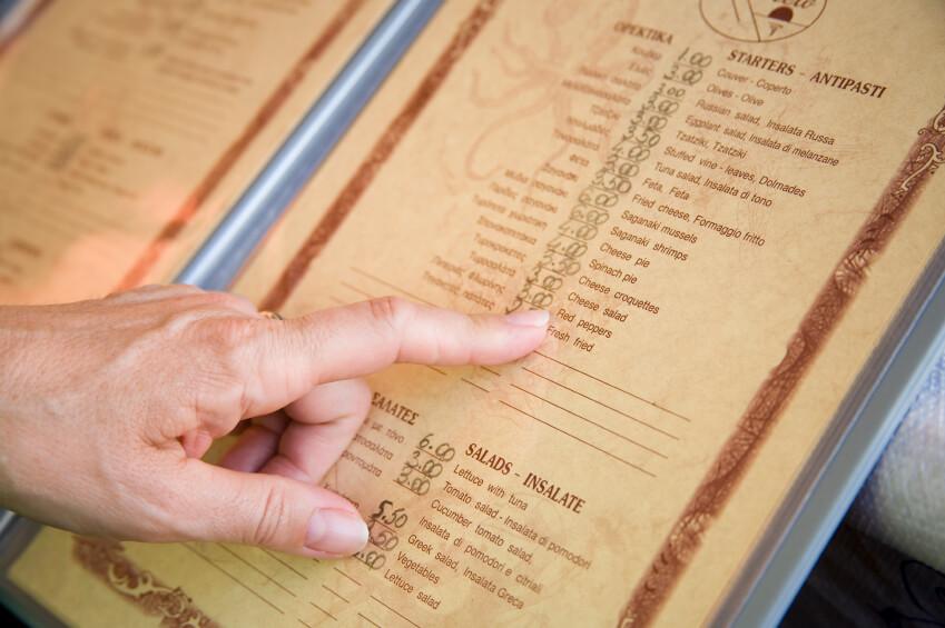 استخدام مصطلحات خادعة في قائمة الطعام