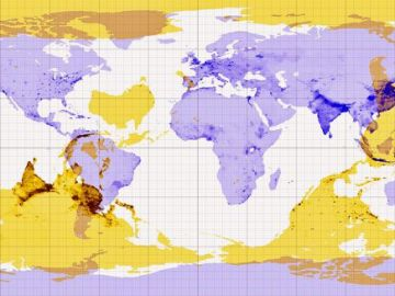 This map shows where you would end up if you dug a hole to the other side of the world