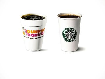 Dunkin and Starbucks