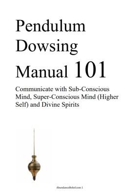 Pendulum Dowsing Manual, Dowsing Book, Dowsing Course