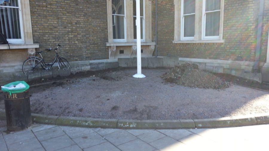 Abundance London Flag Pole Garden cleared