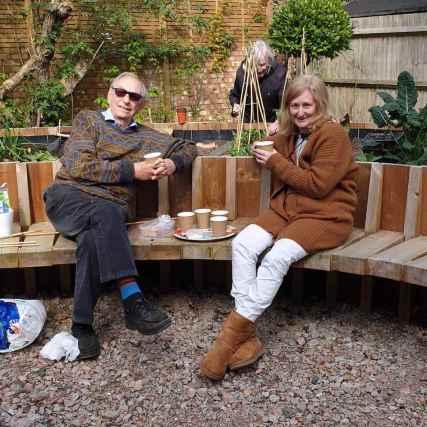 Abundance London GPs therapeutic garden tea break