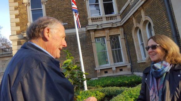 Abundance London In front of Flag Pole Garden
