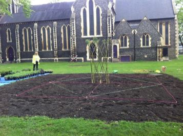 Abundance London knot garden taking shape