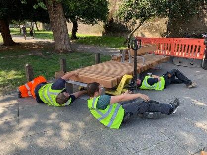 Abundance London Piazza Bench Installation 1
