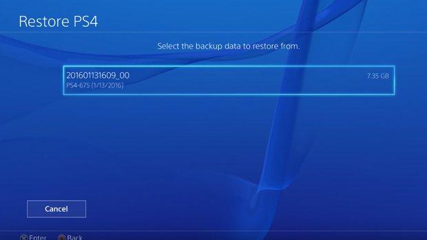 أستعادة النظام PS4