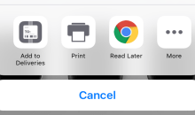 كيفية حفظ صفحات المواقع في قوقل كروم على الأيفون والأيباد لقراءتها لاحقا