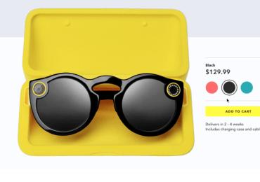 سناب شات بدأت بيع نظارتها الذكية Spectacles أون لاين على الانترنت