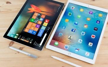 مقارنة لوحي مايكروسوفت Surface Go مع آيباد 2018