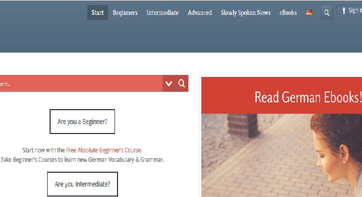موقع Free German Lessons Online