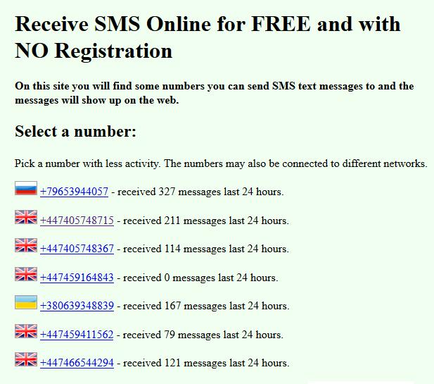 موقع Receive Sms Online