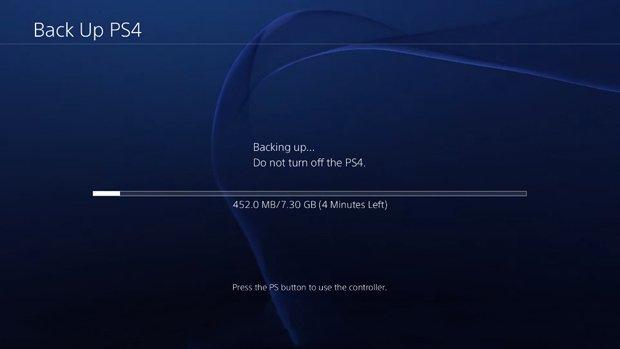 نسخة احتياطية PS4