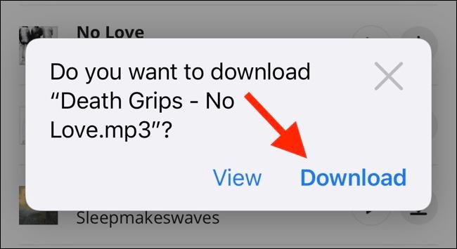 تنزيل الملفات على آيفون بدون تطبيقات