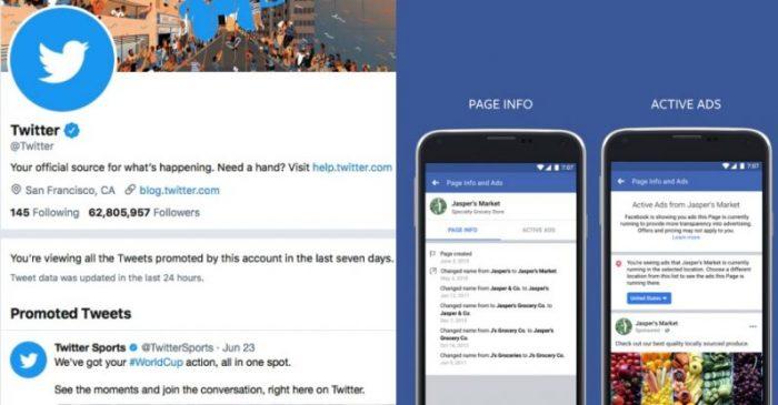 Facebook Twitter Ads