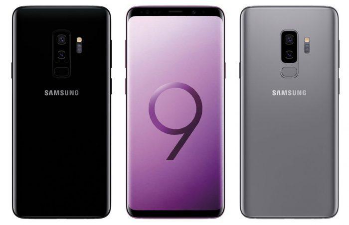 Galaxy S9 plus grey black