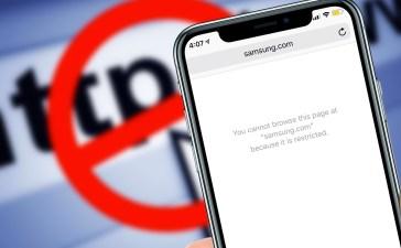 حجب المواقع على الآيفون