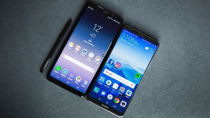 Huawei Mate 10 Pro vs Galaxy Note 8