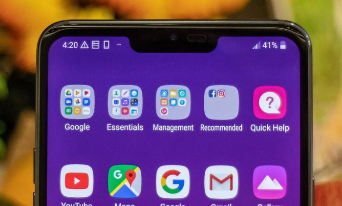 LG G7 ThinQ Notch New Secondary Display
